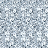 Gewundenes dekoratives Gekritzelmuster des Vektors lizenzfreie abbildung