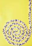 Gewundenes Muster von Knöpfen lizenzfreies stockfoto