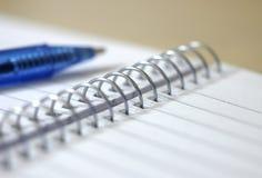 Gewundenes Notizbuch 1. Lizenzfreies Stockbild