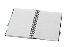 Gewundenes Notizbuch Lizenzfreies Stockbild