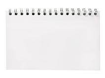 Gewundenes Notizbuch Stockfoto