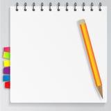 Gewundenes Notizbuch stock abbildung