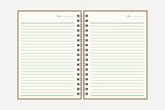 Gewundenes Notizbuch Lizenzfreie Stockbilder