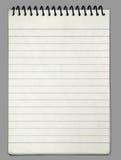 Gewundenes Papiernotizbuch Stockbild