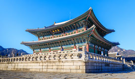 Geyongbokgung slott Fotografering för Bildbyråer