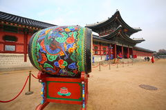 Geyongbokokgung Palace. The drum in front of the main gate to enter Geyongbokokgung Palace Royalty Free Stock Photos