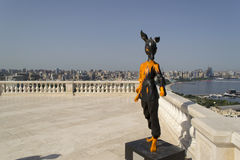 Geyran - symbool Baku 2015 de zomerspelen Stock Foto