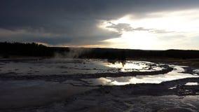Geyser βραδιού Στοκ φωτογραφίες με δικαίωμα ελεύθερης χρήσης