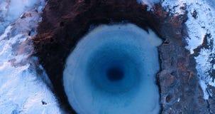 Geyser τοπίο κατά την εναέρια άποψη φιλμ μικρού μήκους