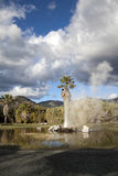 Geyser. A natural geyser shooting water out of the ground and into the air Royalty Free Stock Images