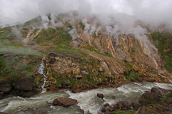Geyser al fiume Fotografia Stock Libera da Diritti
