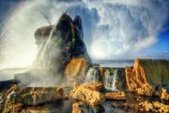 Geyser Arizona de mouche photographie stock libre de droits