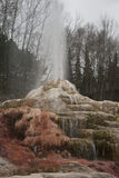 Geyser. As a fairly rare phenomenon, the formation of geysers is due to particular hydrogeological conditions that exist in only a few places on Earth. Generally Royalty Free Stock Photography