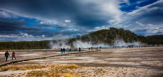 Geyser basin  Yellowstone National Park Stock Image