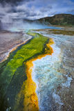 Geyser Basin, Yellowstone National Park, Wyoming Royalty Free Stock Images