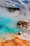 Geyser beauty at Yellowstone National Park Stock Images