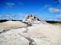 Geyser bianco della cupola Fotografie Stock