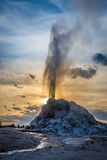 Geyser bianco della cupola Fotografie Stock Libere da Diritti