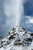Geyser blanc de dôme Photo stock
