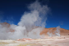 Geyser in bolivia Royalty Free Stock Images