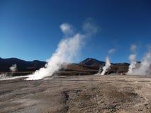 Geyser Chile bolivia mountain hot spring water panorama Stock Image