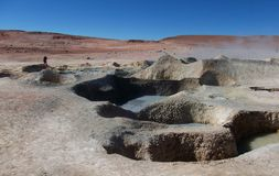 Geyser Chile bolivia mountain hot spring water panorama Stock Image