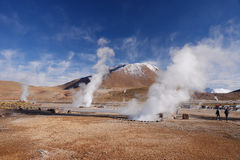 Geyser in chile Stock Photo