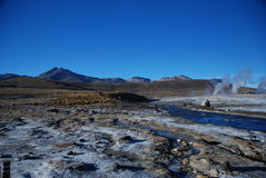 Geyser cileni fotografia stock libera da diritti