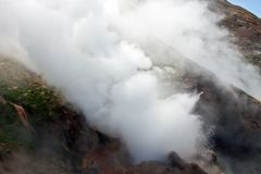 Geyser close-up. Volcanic activity and thermal field in the Kamc Royalty Free Stock Image