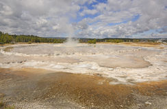 Geyser Cone after an Eruption Royalty Free Stock Photography