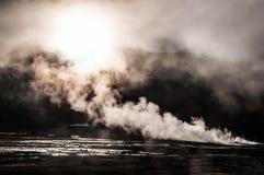 Geyser del Tattio - Atacama Arkivfoto