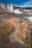 Geyser della valle al EL Tatio, Cile del Nord ad alba, Atacama R Fotografia Stock