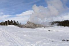 Geyser do castelo, Yellowstone NP Fotos de Stock Royalty Free