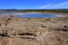 Geyser dormant en Islande Photographie stock