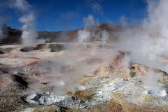 Geyser en Bolivie Photos stock