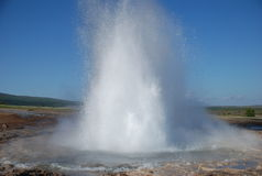 Geyser en Islande Photo stock