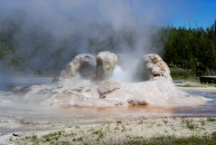Geyser erupting Royalty Free Stock Photography