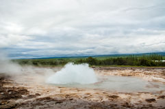 Geyser in eruption Stock Photography