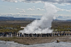 Geyser eruption in Iceland Stock Photography