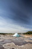 Geyser explosion Royalty Free Stock Photos
