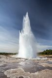 Geyser explosion Royalty Free Stock Image