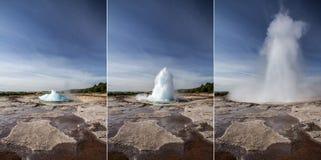 Geyser explosion Stock Photos