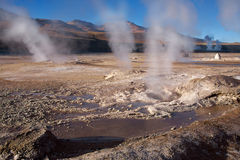 Geyser field El Tatio in Atacama desert, Chile Stock Photography