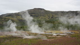 Geyser field in Iceland Stock Photography