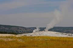 Geyser field Yellowstone National Park Royalty Free Stock Photos