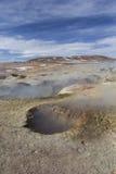 Geyser geothermal area Sol de Manana in Eduardo Avaroa Nationa. L Reserve - Altiplano, Bolivia, South America Stock Photos