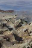 Geyser geothermal area Sol de Manana in Eduardo Avaroa Nationa. L Reserve - Altiplano, Bolivia, South America Royalty Free Stock Photography