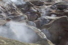 Geyser geothermal area Sol de Manana in Eduardo Avaroa Nationa. L Reserve - Altiplano, Bolivia, South America Royalty Free Stock Image