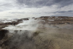 Geyser geothermal area Sol de Manana in Eduardo Avaroa Nationa. L Reserve - Altiplano, Bolivia, South America Stock Images