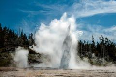 Geyser grande, parque nacional de Yellowstone Foto de Stock Royalty Free
